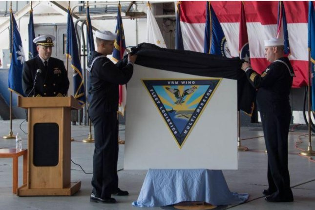 The U.S. Navy established its Fleet Logistics Multi-Mission Wing (COMVRMWING) 1, part of a CMV-22B Osprey squadron. in a ceremony in San Diego on Thursday. Photo by MCS2 Chelsea D. Meiller/U.S. Navy