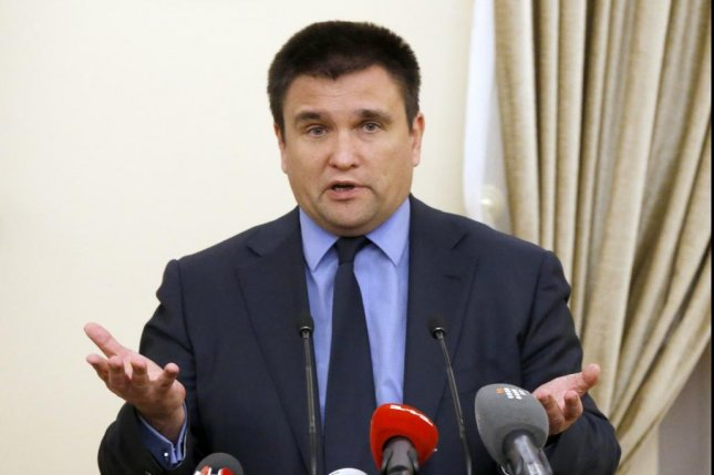 Russia has threatened to destroy anti-aircraft missiles and the equipment they are launched from if Ukraine goes ahead with a planned weapons test Thursday and Friday as Ukraine's Foreign Minister Pavlo Klimkin speaks to the media after peace talks on the crisis in eastern Ukraine in Minsk, Belarus, on Nov. 29. Separatist violence in the region has killed nearly 10,000 people since it erupted in 2014, including a Russian move to annex part of the country that year. EPA/TATYANA ZENKOVICH