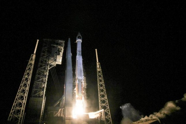 The SBIRS-3 missile warning satellite launched Friday is responding to ground commands. Photo courtesy United Launch Alliance