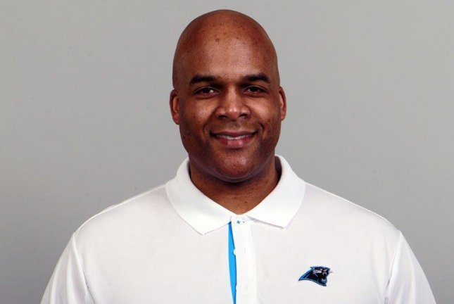 After losing defensive coordinator Steve Wilks to the Arizona Cardinals, the Panthers will reportedly name defensive line coach Eric Washington (pictured) as their new coordinator, according to multiple reports on Monday, January 22, 2018. Photo courtesy of Carolina Panthers/Twitter