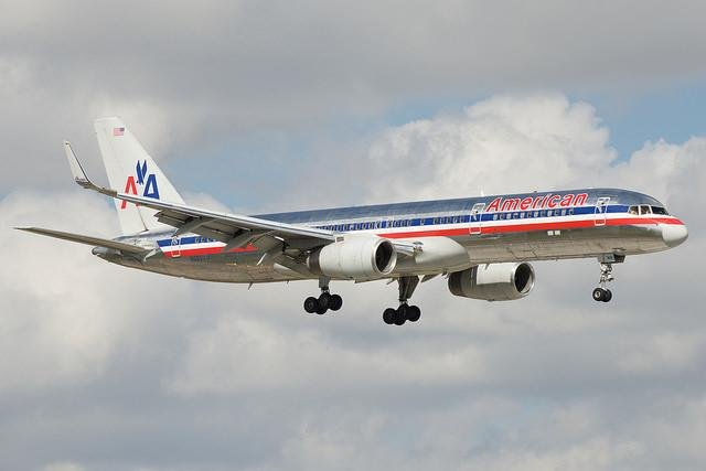 A maintenance crew found about 30 pounds of cocaine in the nose of an American Airlines 757 during routine maintenance Monday in Tulsa, Okla. The plane had flown from Bogota, Colombia, to Miami, Florida, on Sunday and was scheduled for maintenance there but was sent to Tulsa for the work instead. The U.S. Drug Enforcement Administration is investigating how the drugs ended up inside insulation at the front of the plane. Photo by BriYYZ/Flickr.com