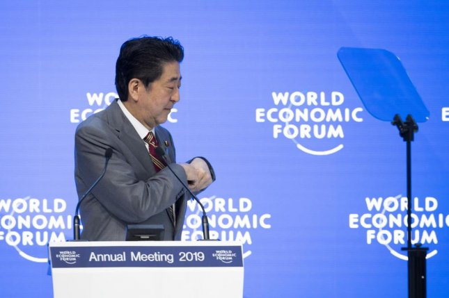 Japanese Prime Minister Shinzo Abe has promoted gender equality but his country is one of the world's most gender-unequal countries, according to the World Economic Forum in Switzerland. File Photo by Gian Ehrenzeller/EPA-EFE