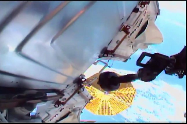 NASA astronauts completed a spacewalk Saturday on which they made multiple repairs to the International Space Station's orbiting platform. Photo courtesy of NASA/Twitter