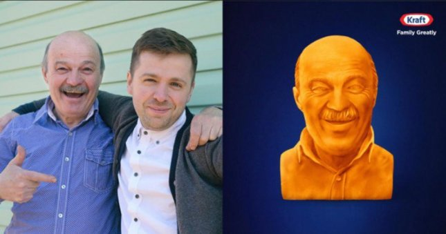 Kraft is giving eBay users with cheesy dads the chance to bid on a custom cheese sculpture of their dads for Father's Day. Photo courtesy of Kraft