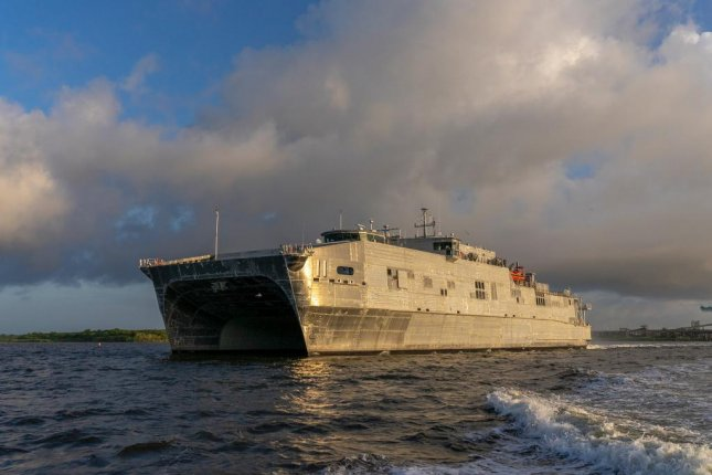 USNS Puerto Rico, shown here after completing sea trials in August, was delivered to the U.S. Navy Tuesday. File Photo courtesy of Austal USA