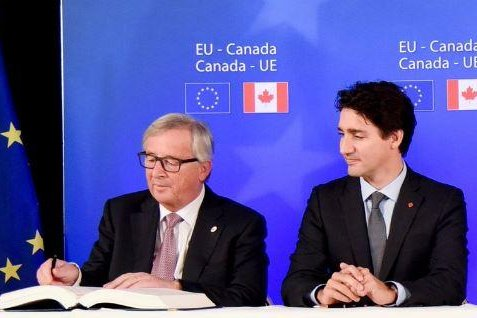 European Union Canada Sign Free Trade Agreement Upi