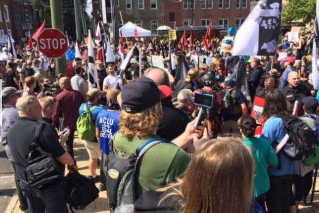 Texas A&M University said it's canceled an outdoor rally by white nationalists scheduled for September 11. The school cited safety concerns related to violent weekend demonstrations in Chrlottesville, Va. Photo by Virginia State Police/UPI