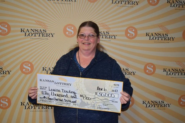 A Kansas woman won a $50,000 lottery prize with a ticket she bought after calling in sick to work. Photo courtesy of the Kansas Lottery