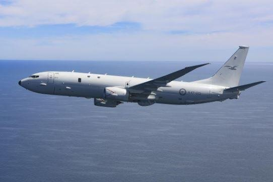 A Poseidon P-8A of the Royal Australian Air Force is depicted. Three U.S. firms shared $418.8 million in contracts for engine work on the planes for Australia and the U.S. Navy. Photo courtesy of Royal Australian Air Force