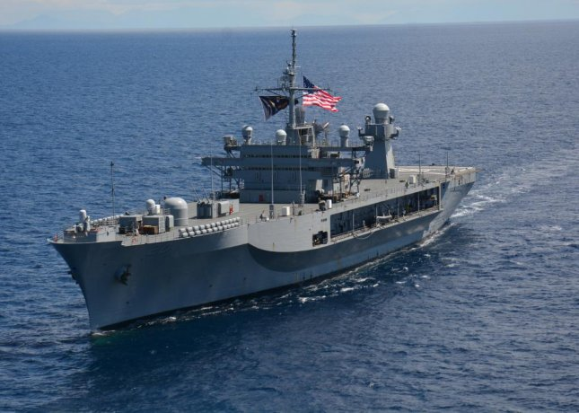 The USS Mount Whitney left Gaeta, Italy, on Tuesday to prepare for Large Scale Exercise 2021, a globally-integrated exercise held Aug. 3-16. Photo courtesy of U.S. Navy