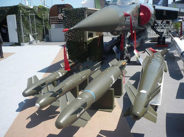 Bombs fitted with Sagem's AASM Hammer guidance kits. Photo by Killersurprise64.
