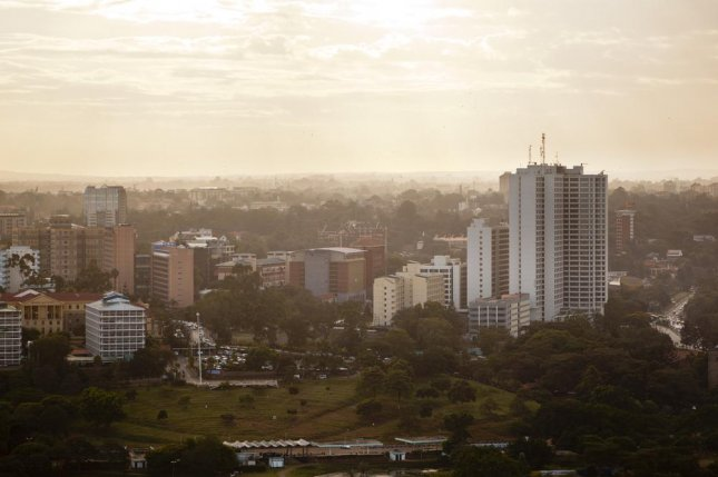 An aerial view of the Uhuru Park in Nairobi, Kenya, where 5,000 naked anti-gay protesters plan to demonstrate against U.S. President Barack Obama. File Photo by IndustryAndTravel/Shutterstock