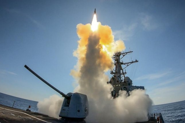Raytheon has received a $28.9 million contract modification for Standard Missile-2 and Standard Missile-6 repairs. The Arleigh-Burke class guided-missile destroyer USS Stout is pictured during launch of an SM-2 during a missile exercise. Photo by Laura Radspinner/U.S. Navy