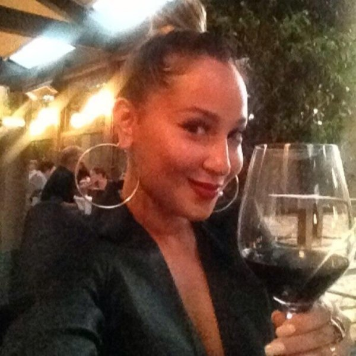Adrienne Bailon tweeted photo of herself Tuesday. (Twitter)