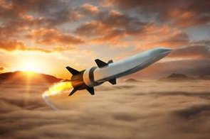 This is an artist's rendering of air-breathing hypersonic weapon being developed by Northrop Grumman and Raytheon for the Defense Advanced Research Projects Agency. Photo courtesy of Raytheon/Northrop Grumman