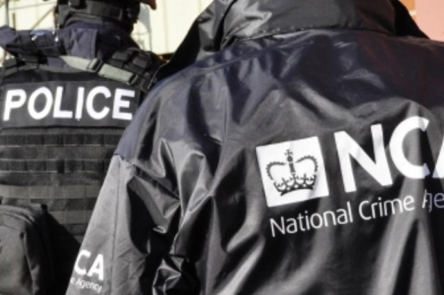 Police and agents of the British National Crime Agency seized weapons and drugs in a week-long, national sweep that also rescued dozens of victims who'd been forced to traffic narcotics, authorities said. File Photo courtesy National Crime Agency