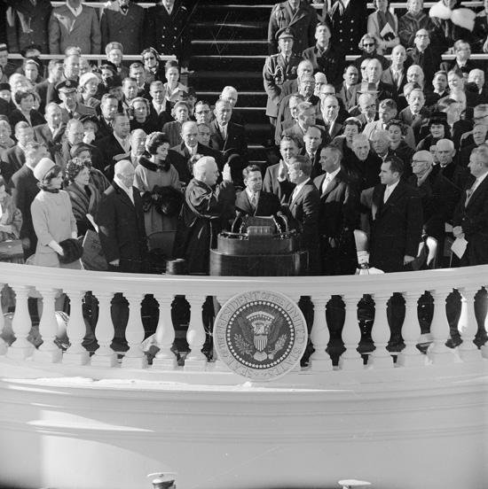 The inauguration of John Fitzgerald Kennedy on January 20, 1961. Photo courtesy of United States Government