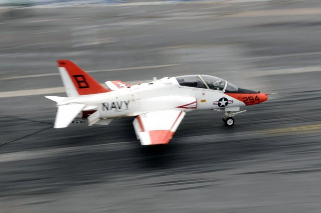 The Navy exercised a contract option with L-3 for organizational, intermediate, depot-level maintenance, logistics and engineering support to Navy T-45 aircraft. File Photo by Nathan Parde/U.S. Navy