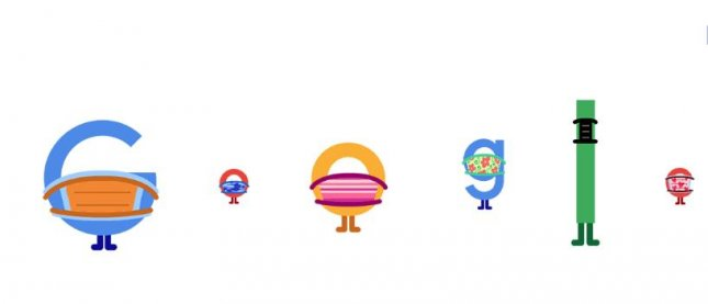 Google is promoting the wearing of masks during the COVID-19 pandemic with a new Doodle. Image courtesy of Google