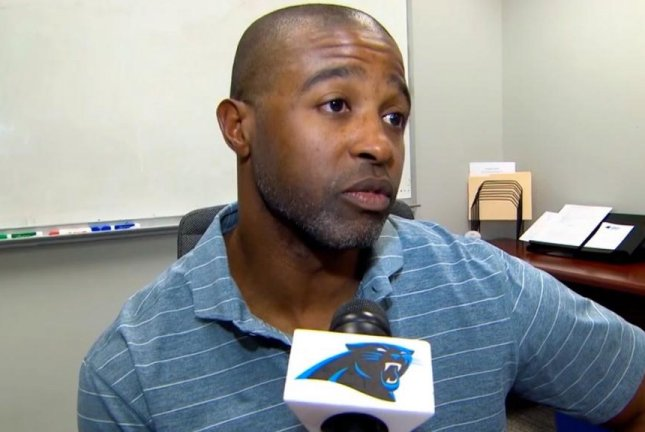 Defensive backs coach Curtis Fuller (pictured) of the Carolina Panthers resigned this week following an investigation into complaints of inappropriate conduct, the team announced on Friday. Photo courtesy of Carolina Panthers/Twitter