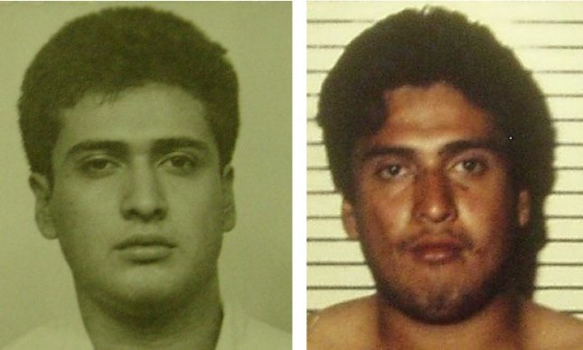 Carlos DeLuna before and after his arrest. (Image courtesy Columbia Human Rights Law Review).