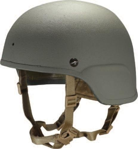 ArmorSource's recently tested Lightweight Advanced Combat Helmet reduces the weight of the previous model by four ounces. Photo courtesy of ArmorSource