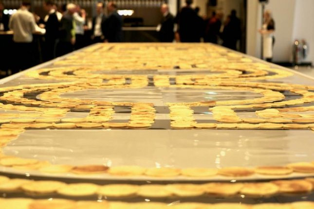 The Tottenham Hotspur Stadium in London broke the Guinness World Record for longest line of pancakes to celebrate Pancake Day. Photo courtesy of the Tottenham Hotspur Stadium