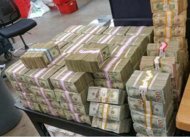 U.S. Border Patrol agents in Southern California seized more than $3 million on Tuesday in the largest-ever cash seizure in the San Diego Sector. The two men accused of smuggling the money are facing federal charges. Photo courtesy U.S. Customs and Border Protection