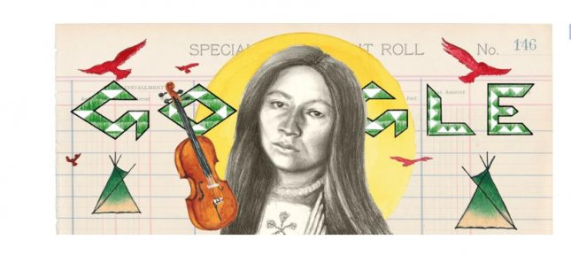 Google is paying homage to writer, musician, teacher, composer and suffragist Zitkala-Ša, a member of the Yankton Sioux Tribe of South Dakota, with a new Doodle