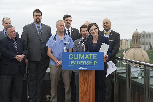 Alberta Environment Minister Shannon Phillips spells out terms of carbon levy meant to fund a provincial effort to advance a low-carbon economy. Photo courtesy of the provincial government of Alberta.