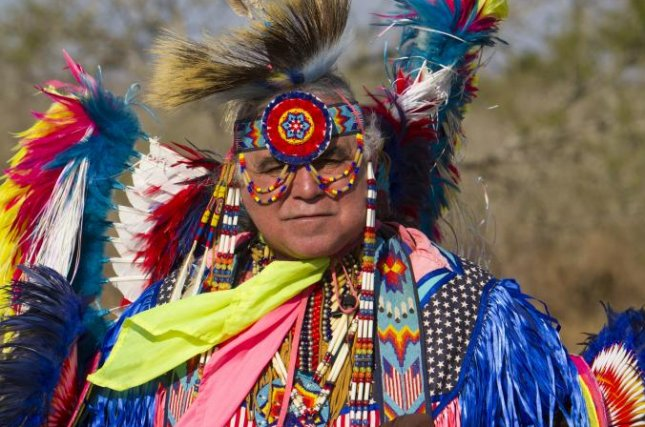 Robert Soto, a feather dancer in the Lipan Apache Tribe of Texas,  also serves as serves as pastor at McAllen Grace Brethren Church. Photo courtesy of Becket Fund for Religious Liberty