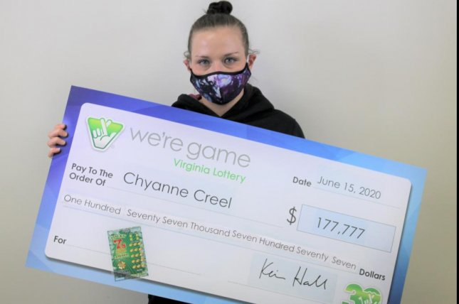 Chyanne Creel, of Virginia, said an argument with her boyfriend led to a drive that ended with winning a $177,777 lottery jackpot. Photo courtesy of the Virginia Lottery