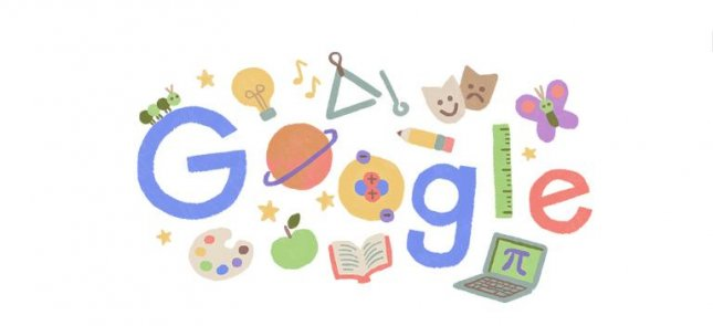 Google is commemorating Teacher Appreciation Week with a new Doodle. Image courtesy of Google