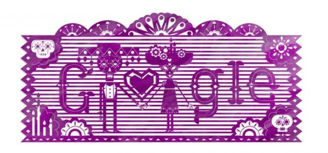 Google is celebrating Mexico's Day of the Dead with a new Doodle. Photo courtesy of Google
