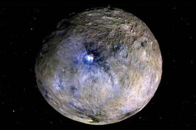 Ceres pole reoriented itself approximately 36 degrees at some point in its evolutionary history. Photo by NASA/JPL-Caltech/UCLA/MPS/DLR/IDA