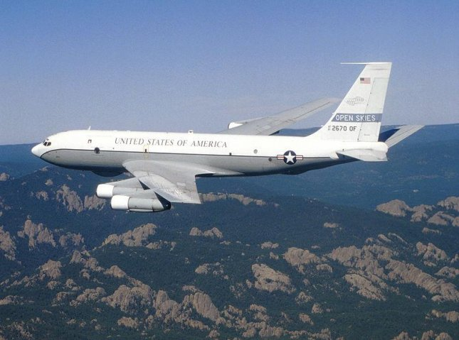 The United States conducted an extraordinary flight over the Ukraine Thursday to reaffirm its commitment to the country after Russian ships seized three of its sea vessels and 24 sailors. Photo courtesy U.S. Air Force/Wikimedia Commons