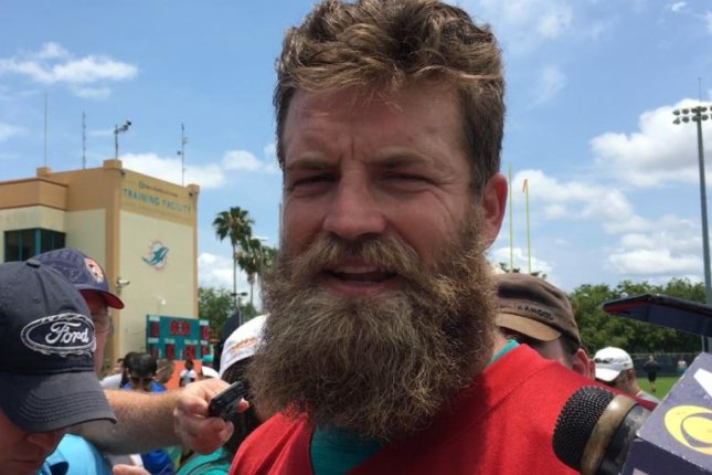 Miami Dolphins quarterback Ryan Fitzpatrick competed with Jameis Winston for the Tampa Bay Buccaneers' starting job last season. Photo by Alex Butler/UPI