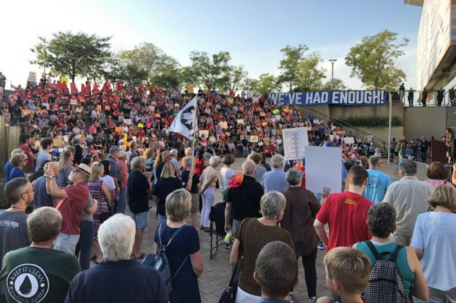 The Caravan for Change rally drew hundreds of gun control activists Thursday in five Ohio cities. Photo courtesy Tim Ryan campaign/Twitter