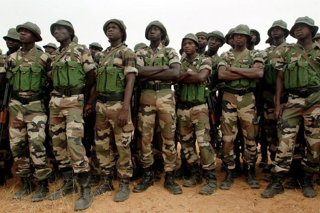 Nigerian soldiers, pictured in 2007. (U.S. Navy/Mass Communication Specialist 1st Class Michael Larson)