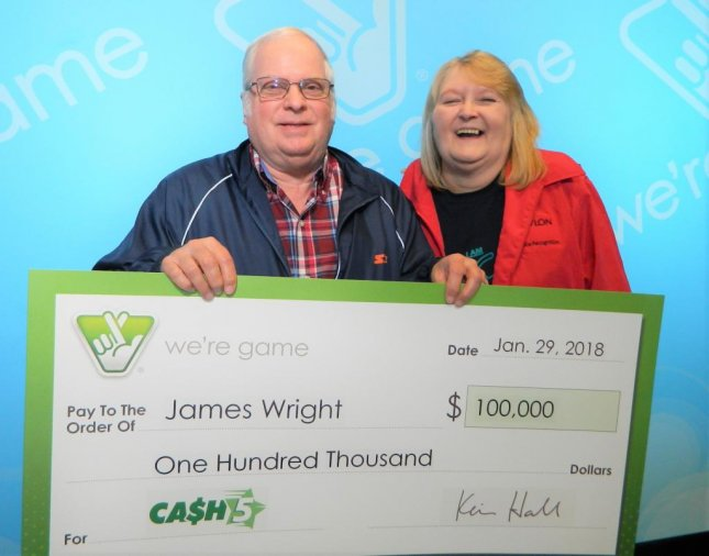 A man who won a $100,000 jackpot from the Virginia Lottery said the ticket had been forgotten in his glove compartment for nearly four months. Photo courtesy of the Virginia Lottery