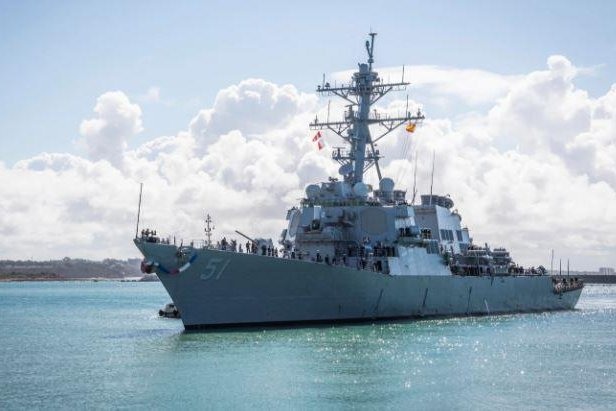 The guided missile destroyer USS Arleigh Burke joined the U.S. Navy 6th Fleet at Rota, Spain, its new home port, on Sunday. Photo by MCS1 Eduardo Otero/U.S. Navy