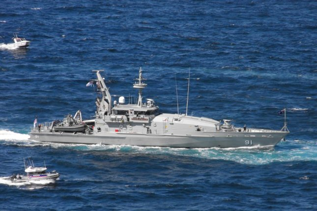 Australia's planned Offshore Patrol Vessels are intended to replace the country's existing fleet of Armidale-class patrol boat. Photo by Saberwyn/Wikimedia Commons.