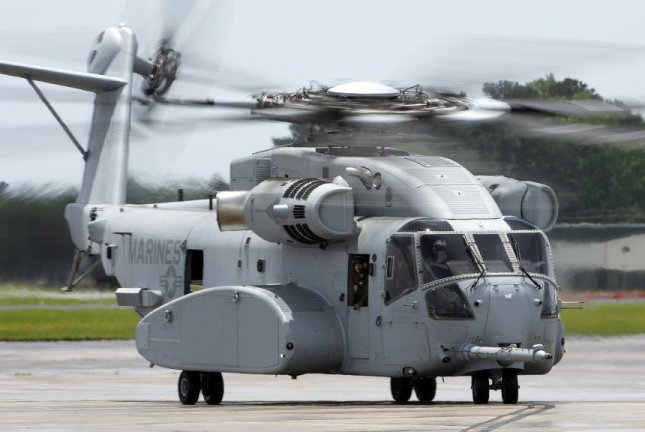 The first CH-53K King Stallion taxis across the flight line at Marine Corps Air Station New River in May 2018 for testing and assessment. Photo by Sgt. Matthew Callahan/U.S. Marine Corps