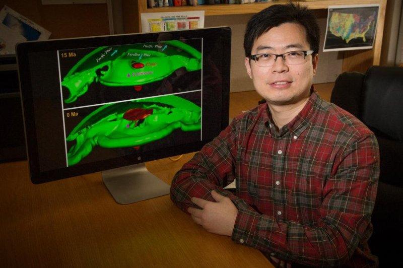 Geology professor Lijun Liu built a computer model to analyze the origins of the Yellowstone supervolcano. Photo by University of Illinois