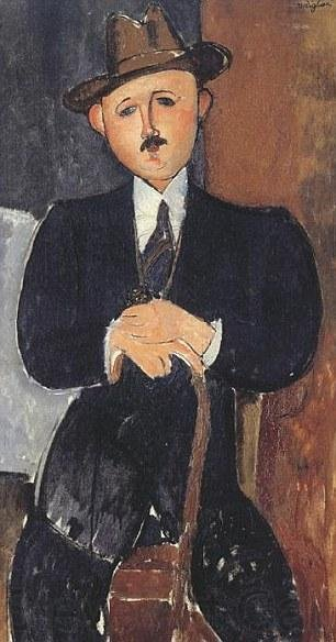 Seated Man with a Cane, a painting by Amedeo Modigliani, was sequestered by swiss authorities after the Panama Papers offered a look into its disputed ownership. Image by Amedeo Modigliani