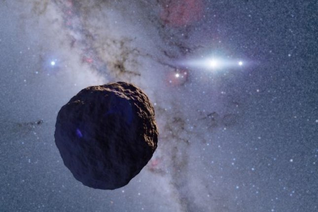 An artist's illustration showcases the newly discovered Edgeworth-Kuiper belt object. Photo by Ko Arimatsu