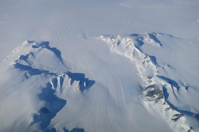 A new NASA study claims thickening ice in the Antarctic Peninsula, photographed above, outweighs ice losses over the last couple decades. Photo by NASA's Operation IceBridge