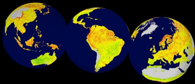 A new map developed by researcher in Norway shows what parts of the world will be most affected by global warming and climate variability. Photo by Bergen University