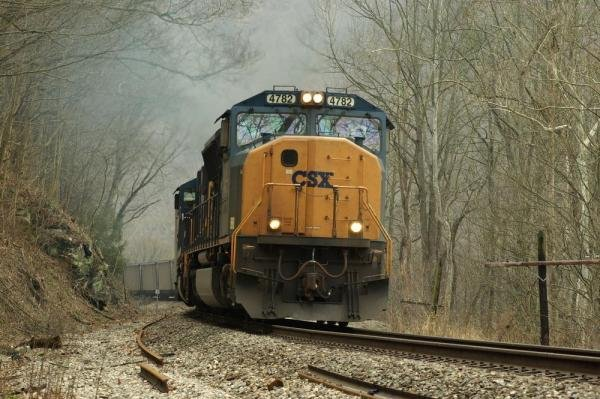 Federal authorities recovered about 500 pounds of commercial grade explosives were stolen off a CSX freight train, similar to the one above, during a trip through the upper Midwest. File Photo by Matthew Siddons/Shutterstock
