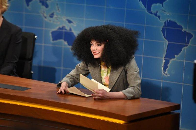 Emma Stone on the Saturday Night Live 40th anniversary special Feb. 15, 2015. NBC